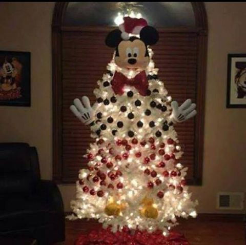 Mickey Mouse Tree...these are the most Creative Christmas Trees!