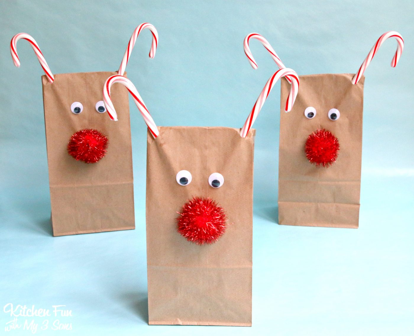 Christmas reindeer treat bags kitchen fun with my sons