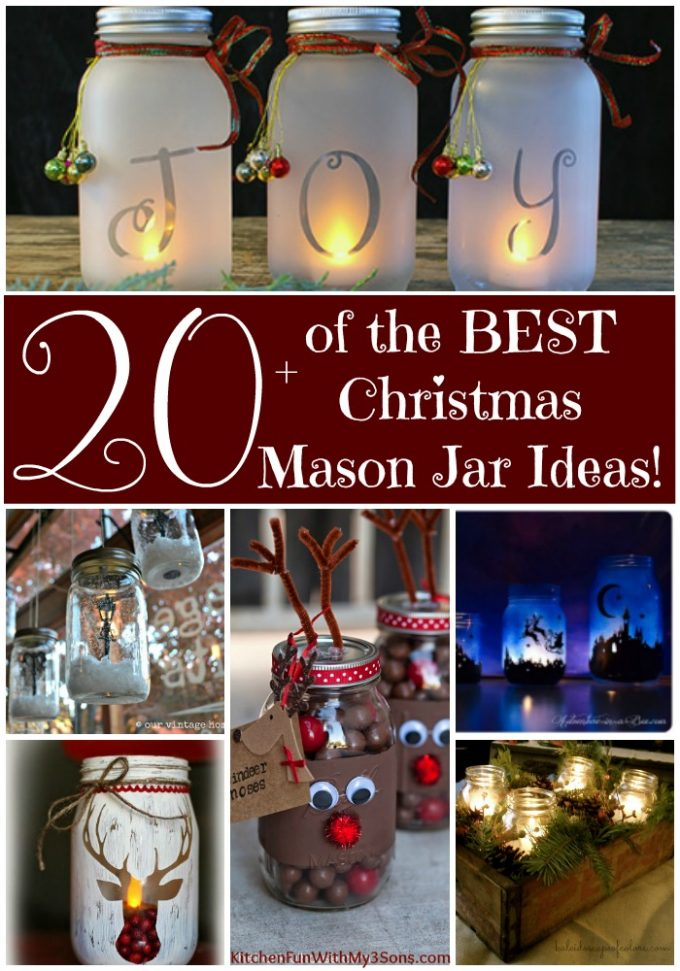 over 20 of the best christmas mason jar ideas - Christmas Jar Decorations