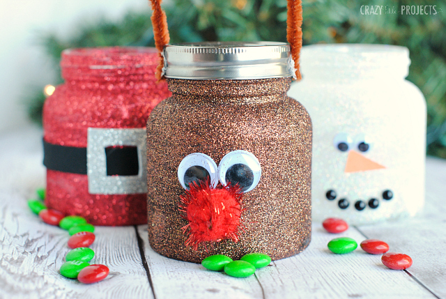 Christmas Treat Jars....these are the BEST Christmas Mason Jar Ideas!