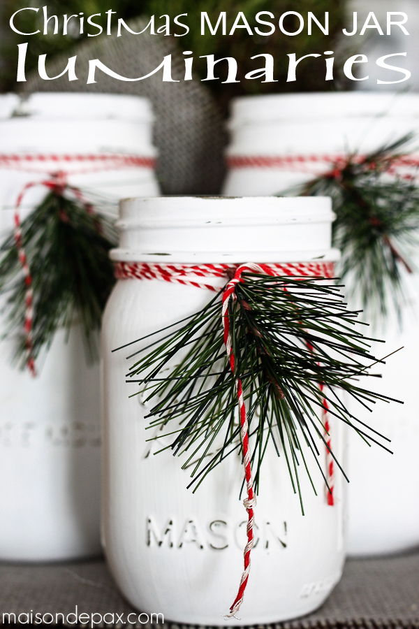 Holiday Mason Jar Luminaries...these are the BEST Christmas Mason Jar ideas!