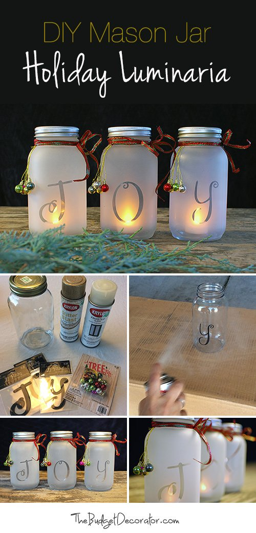 DIY Holiday Joy Jars... these are the BEST Christmas Mason Jar Ideas!
