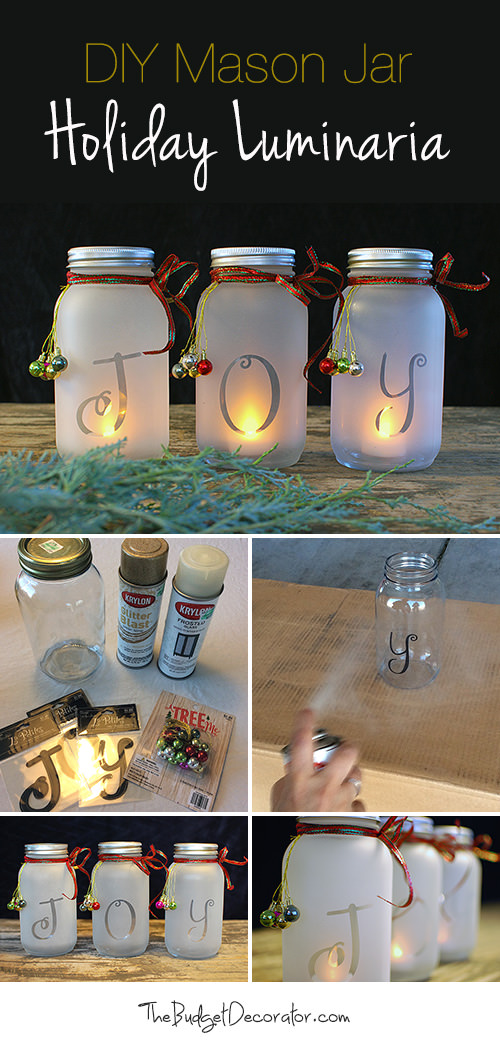 diy holiday joy jars these are the best christmas mason jar ideas - Christmas Jar Decorations