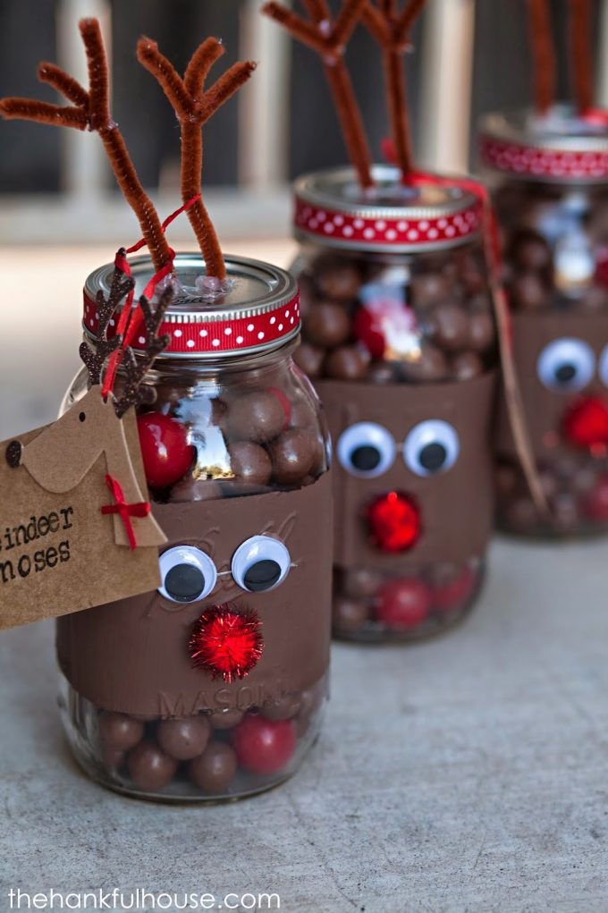rudolph the red nose reindeer jarsthese are the best christmas mason - Christmas Jar Decorations