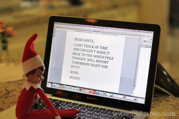 Excuse Letter to Santa Elf