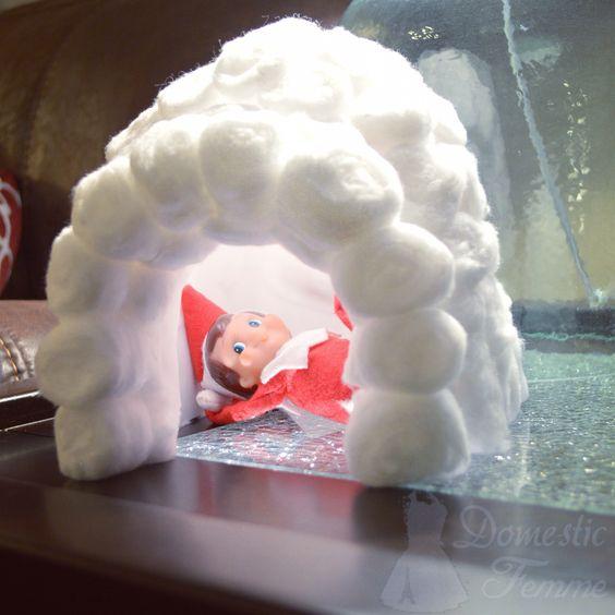 Elf in a Cotton Ball Eskimo House