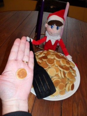 Mini Elf Pancake Breakfast...these are the BEST Elf on the Shelf ideas for Christmas!