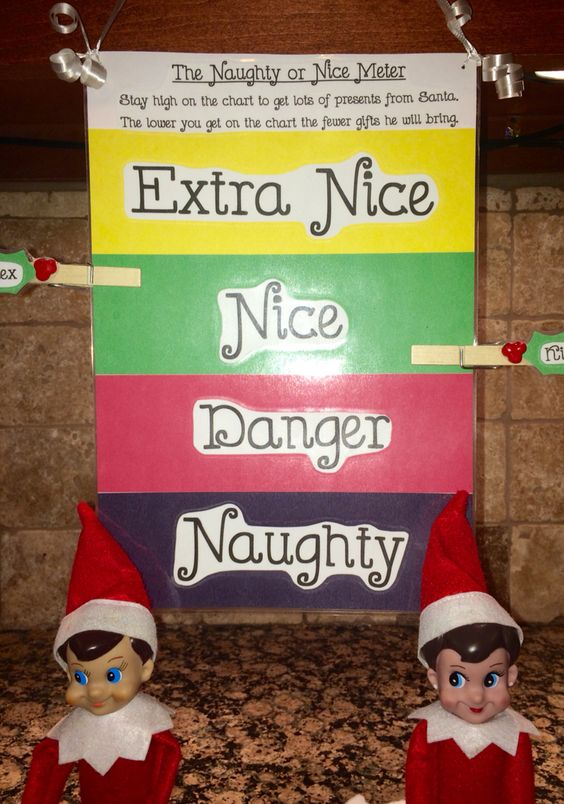 Elf on the Shelf Naughty or Nice Clip Chart...these are the BEST Elf on the Shelf Ideas!