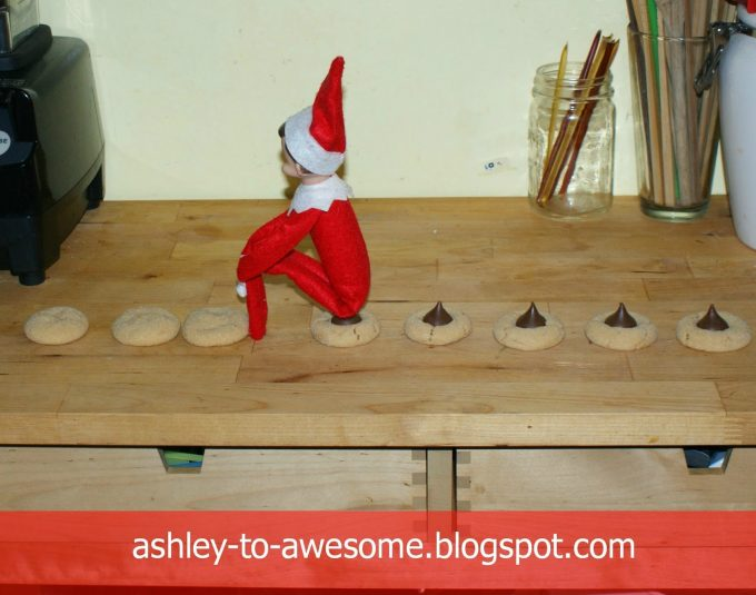 Pooping Kiss Cookie Elf...these are the BEST Elf on the Shelf Ideas for Christmas!