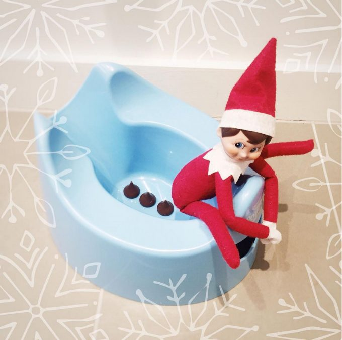 Elf going Potty...these are the BEST Elf on the Shelf Ideas!