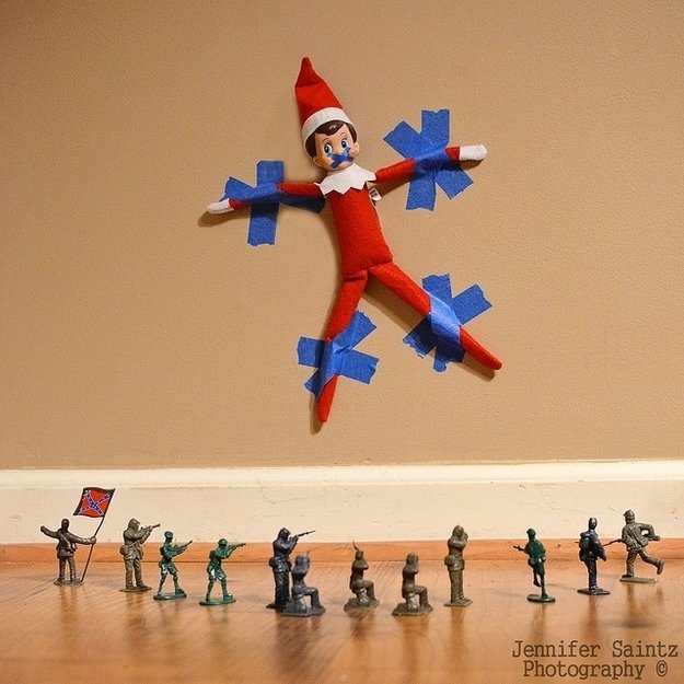 40 of the best elf on the shelf ideas kitchen fun with - Christmas elf on the shelf wallpaper ...