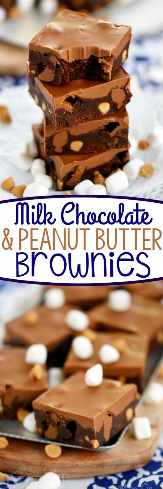 Milk Chocolate Peanut Butter Brownies