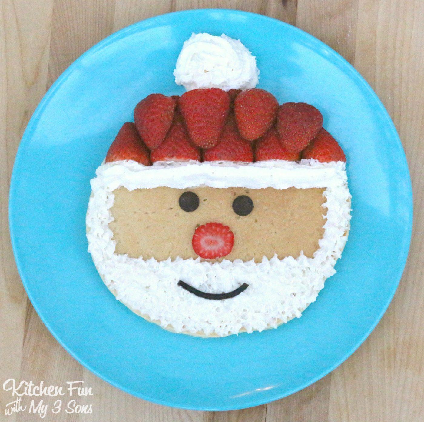 Christmas Santa Pancakes Kitchen Fun With My 3 Sons