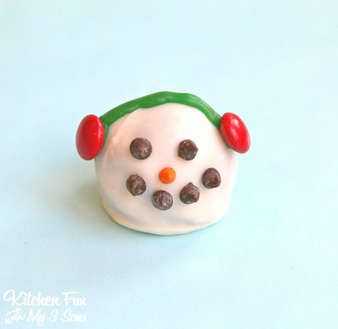 Christmas Snowman Oreo Cookie Balls Kitchen Fun With My 3 Sons