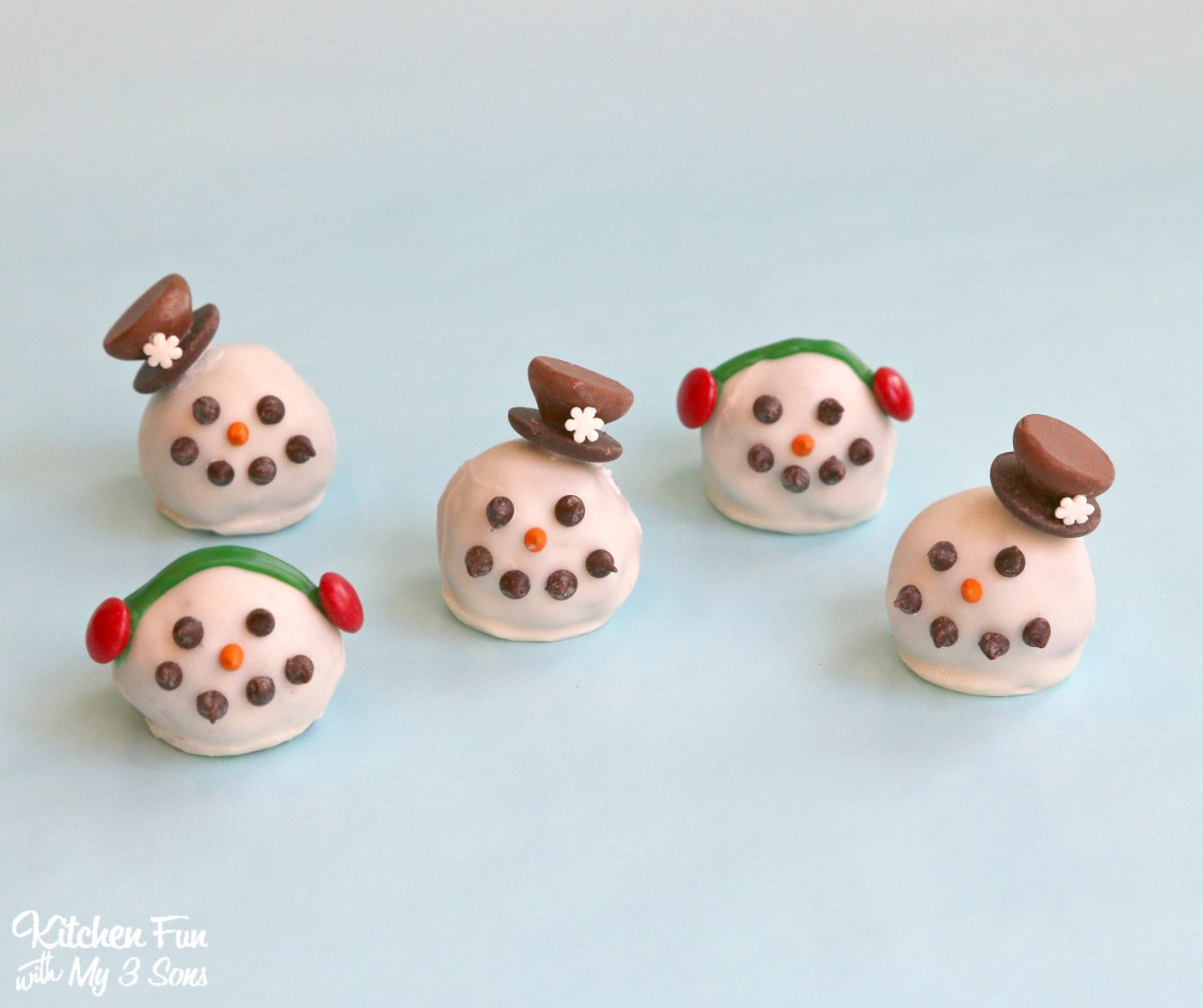 Christmas Snowman Oreo Cookie Balls Kitchen Fun With My