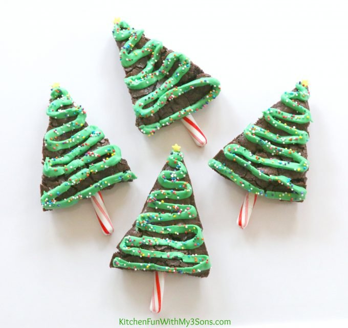 Christmas Tree Brownies.Christmas Tree Brownies Kitchen Fun With My 3 Sons