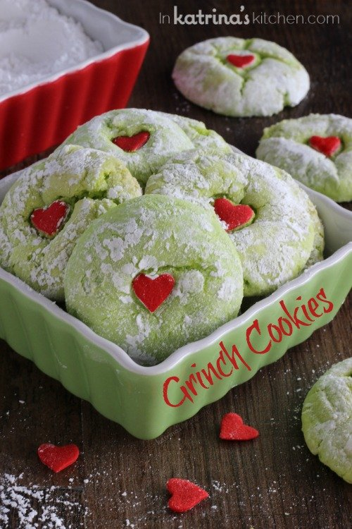 The Grinch Cookies....this is the Best selection of Christmas Cookies Recipes!