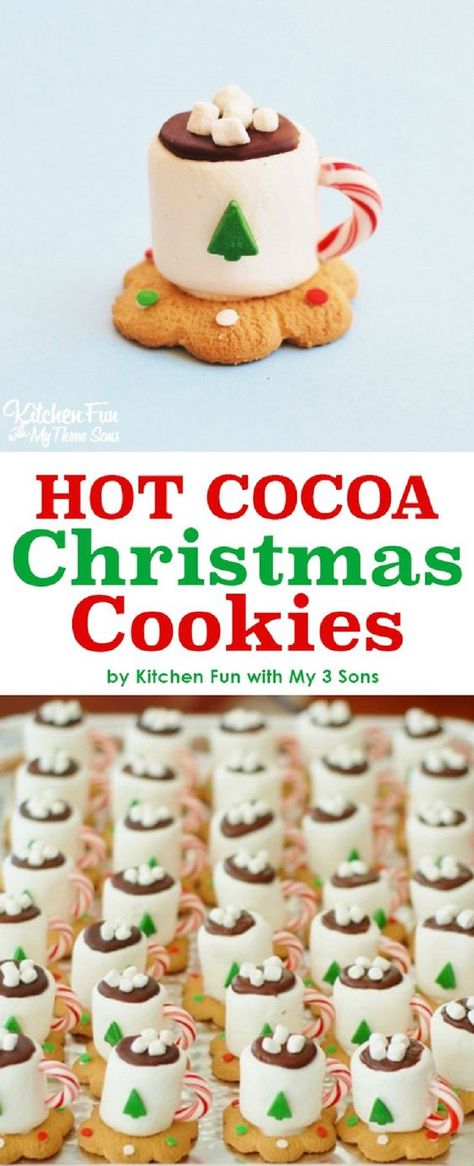 Hot Cocoa Christmas Cookies