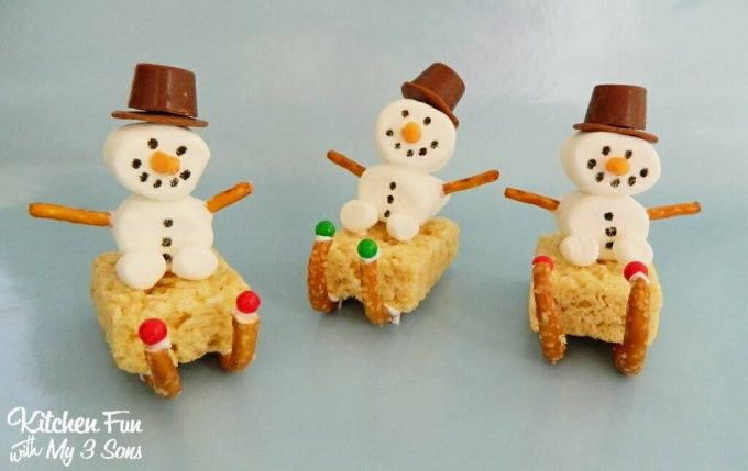 Snowman Sleigh Treats