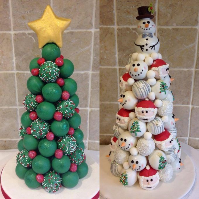 Cake Ball Trees...these are the BEST Christmas Treats!