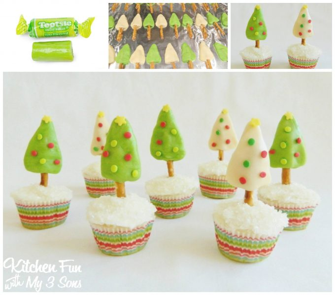 Tootsie Tree Cupcakes...these are the BEST Christmas Treats!