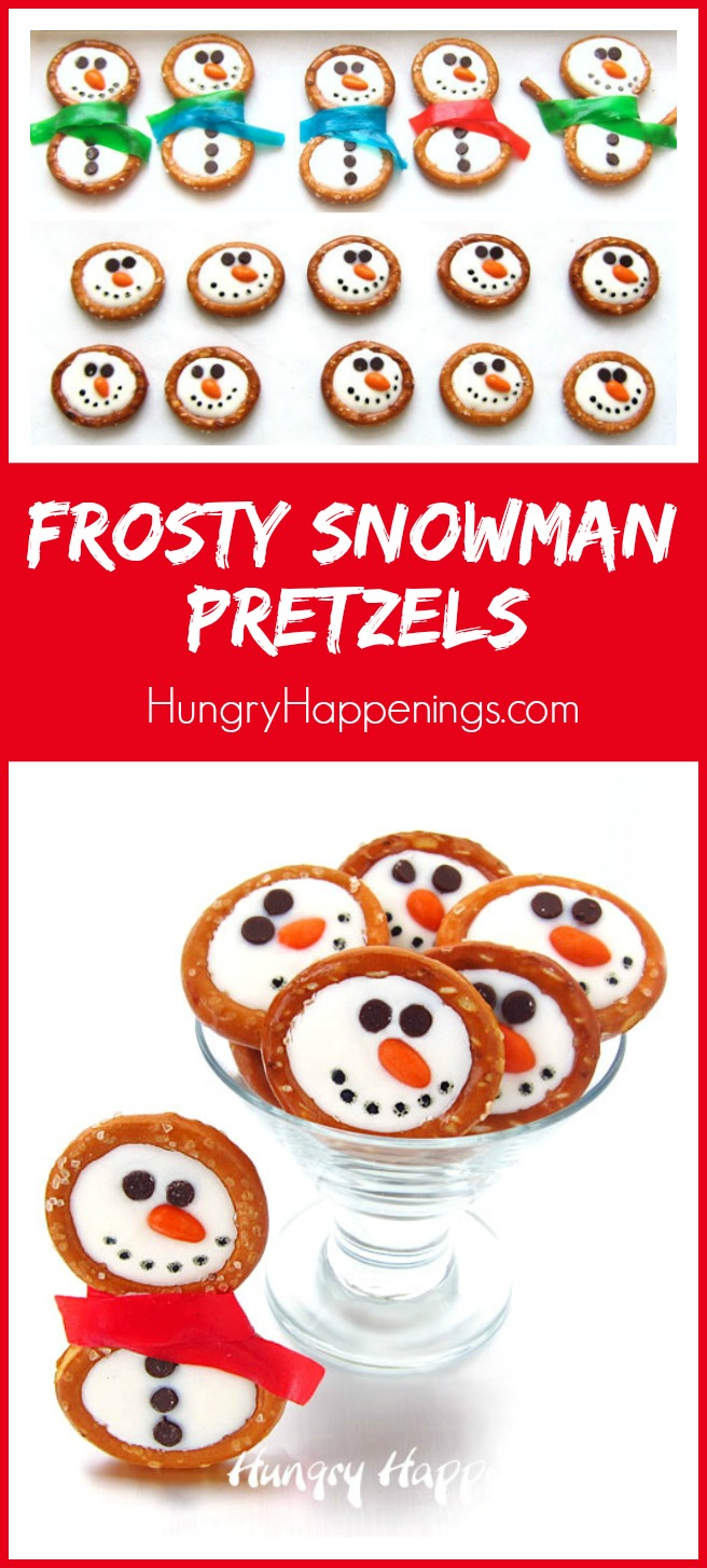 Frosty Snowman Pretzels...these are the BEST Christmas Treats!