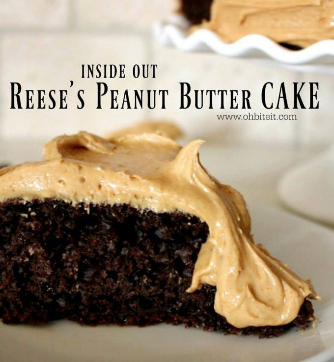 Inside Out Reese's Peanut Butter Cake