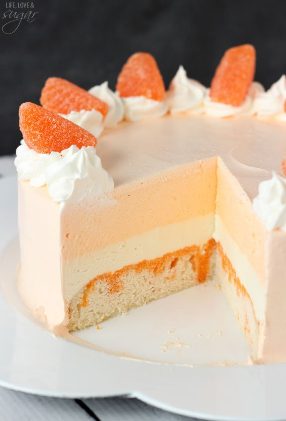 Orange Creamsicle Ice Cream Cake...these are the BEST Cake Recipes!