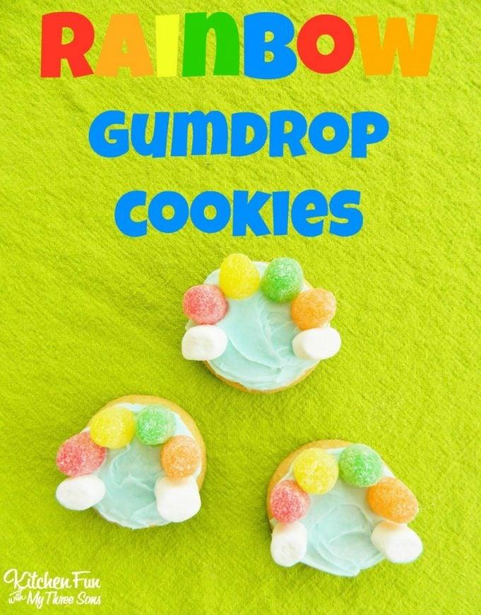 Easy Rainbow Gumdrop Cookies