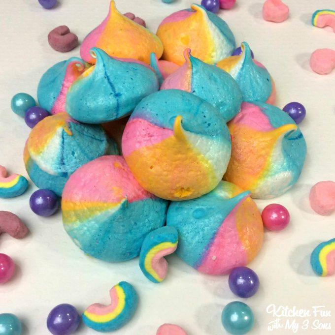 Rainbow unicorn poop cookies