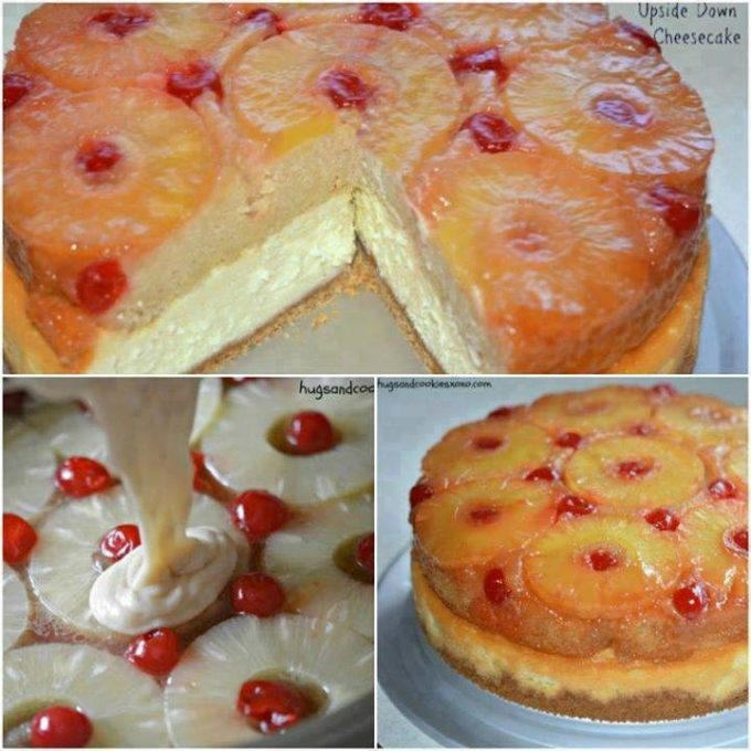 Pineapple Upside Down Cheesecake Cake