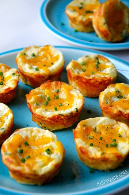 Cheesy Mashed Potato Muffins - these are the BEST Muffin Tin Recipes for Kids!