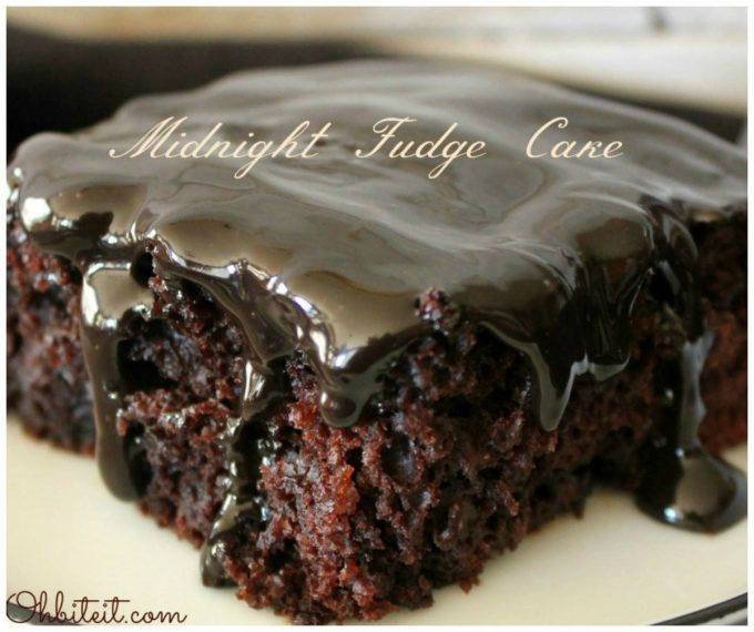 Midnight Fudge Cake...these are the BEST Cake Recipes!