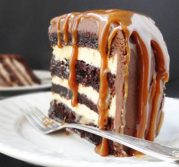Salted Caramel Chocolate Fudge Cake...these are the BEST Cake Recipes!