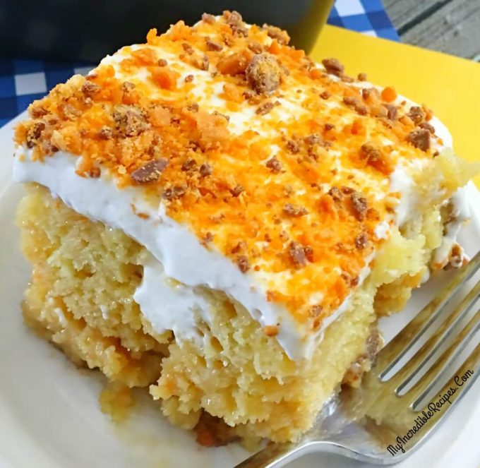 Butterfinger Ecstacy Cake...these are the BEST Cake Recipes!