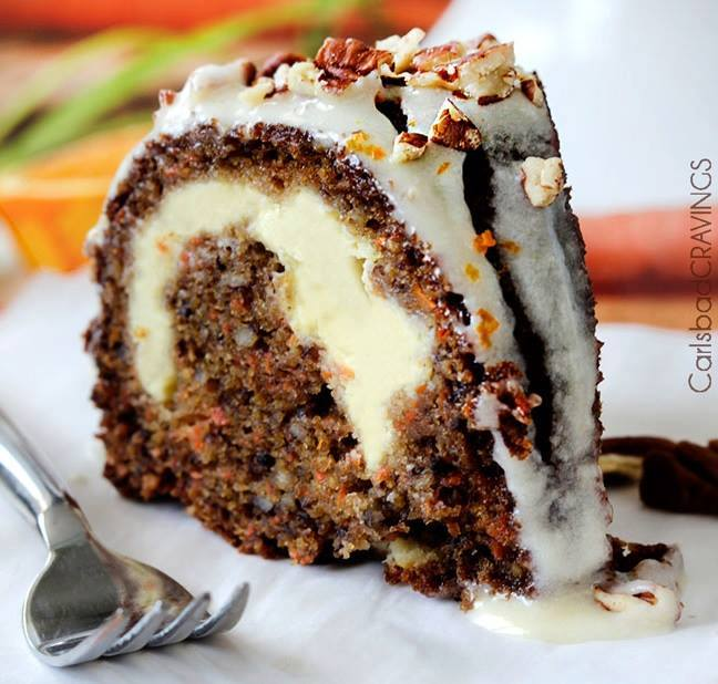 Cream Cheese Stuffed Carrot Cake...these are the BEST Cake Recipes!