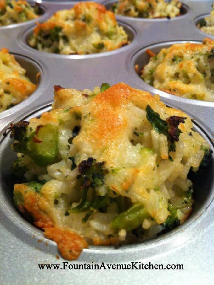 Broccoli Cheddar Rice Cups - these are the BEST Muffin Tin Recipes for Kids!