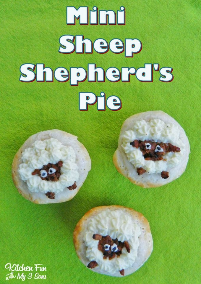 Mini Sheep Shepherds Pies - these are the BEST Muffin Tin Recipes for Kids!