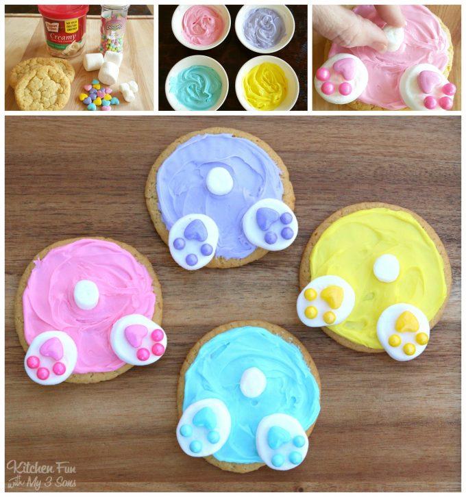 Easter Bunny Butt Cookies