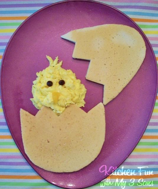 Peeping Chick Easter Pancakes