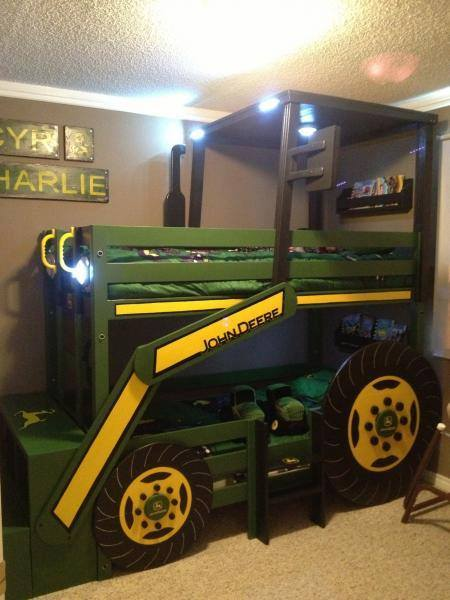 DIY John Deere Tractor Bunk Bed