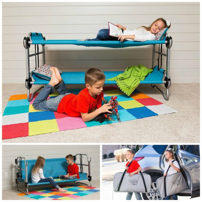 Portable Travel Bunk Bed...these are the BEST Bunk Bed ideas!