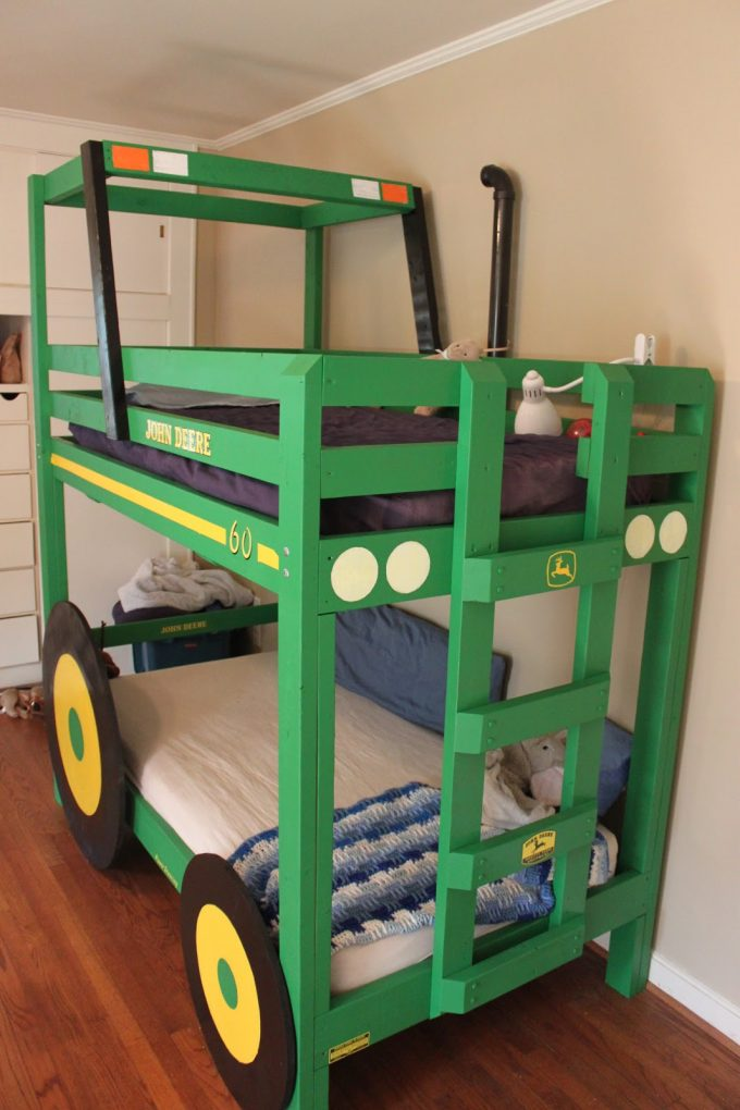 Simple DIY Tractor Bunk Beds these are the BEST Bunk Bed Ideas