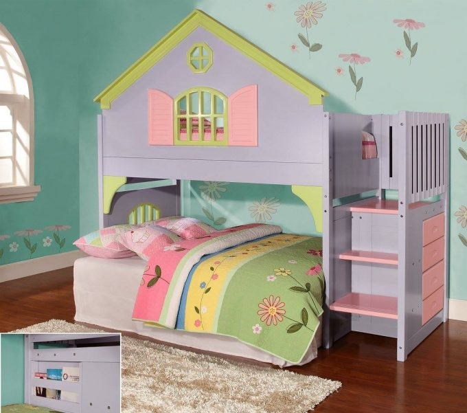 Dollhouse Loft Bed...these are the BEST Bunk Bed Ideas!