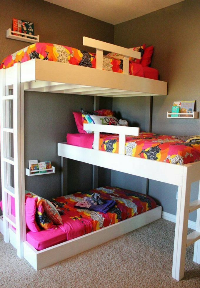 Amazing DIY Triple Bunk Bed these are the Best Bunk Bed Ideas