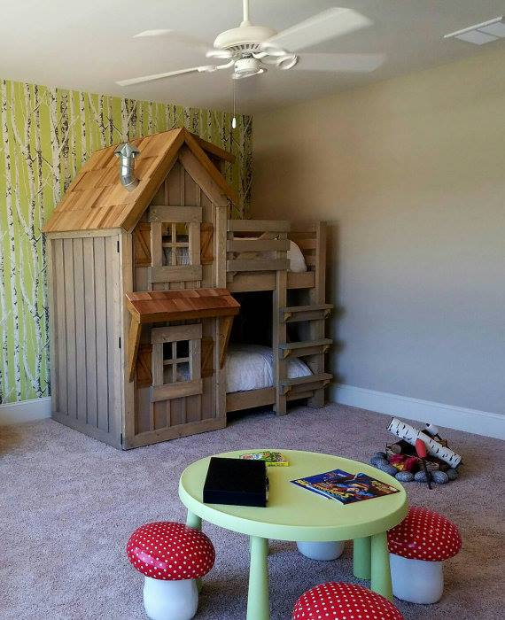 Cabin Bunk Beds...these are the BEST Bunk Bed Ideas!