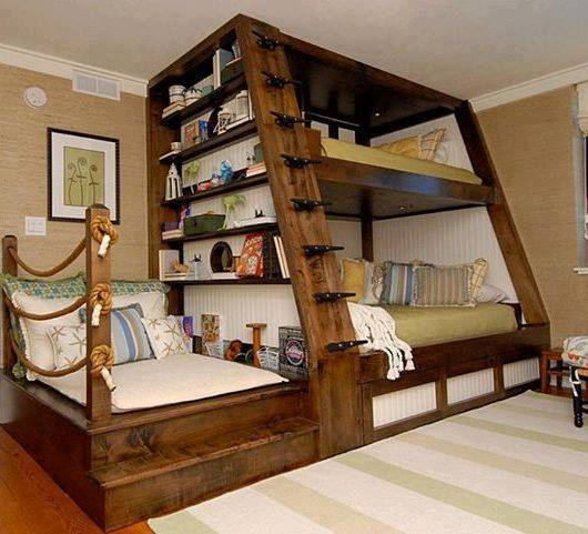 Simple Reading Nook bunk Bed these are the BEST Bunk Bed Ideas
