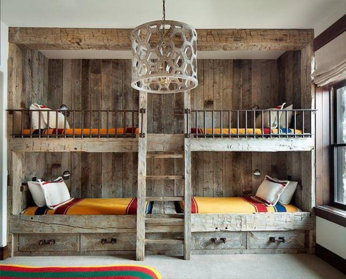 The best bunk bed ideas over 30 ideas for Log cabin style bunk beds