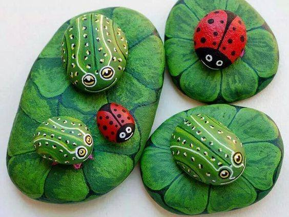 Over 40 of the best rock painting ideas kitchen fun with - Piedras decoradas para jardin ...