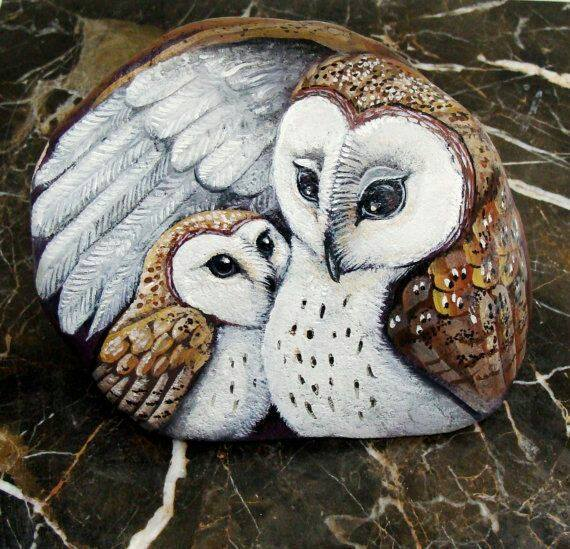 Painted Owl Rocks...these are the BEST Rock Painting Ideas!